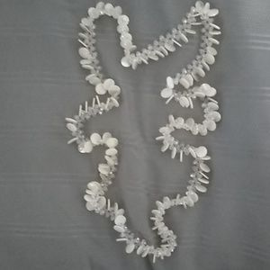 """unknown Jewelry - 21"""" L Crystal Bead & Pearl Flat Bead Necklace"""